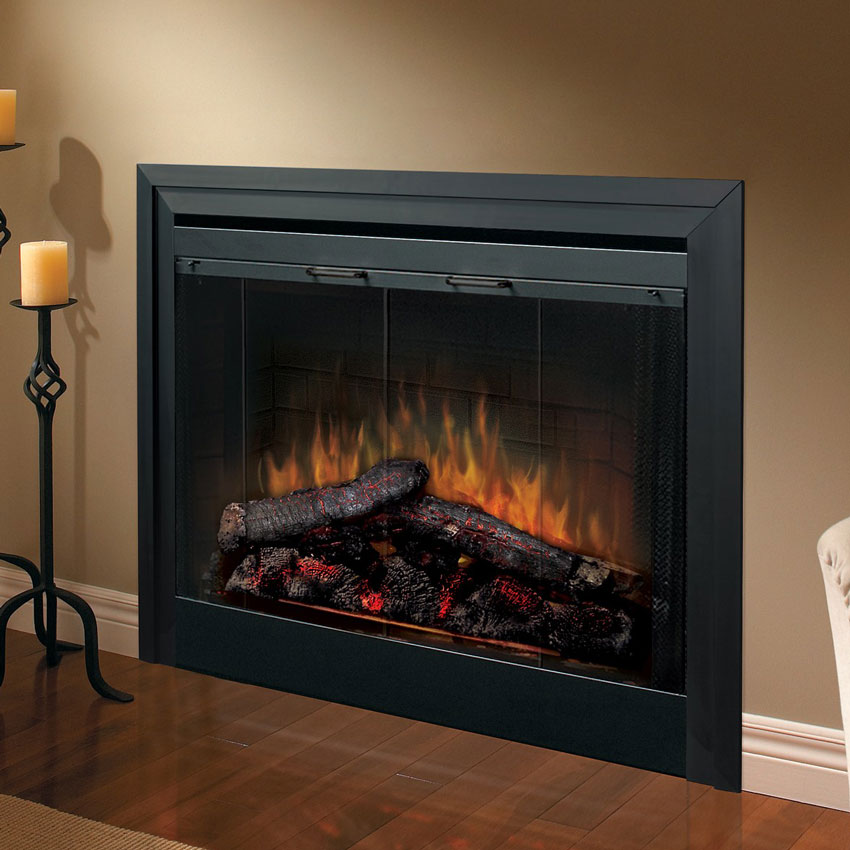 Dimplex 33 in built in electric fireplace insert - Contemporary electric fireplace insert accessories ...