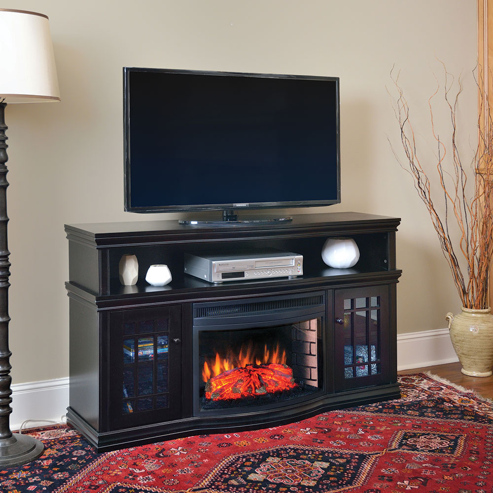 media with inch log gas shelton guys napoleon walnut burnished fireplace firebox electric console allure phantom