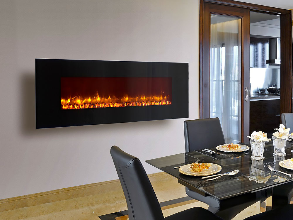 Incredible Dynasty 78 In Wall Mount Electric Fireplace W Logs Ef71 L Download Free Architecture Designs Aeocymadebymaigaardcom