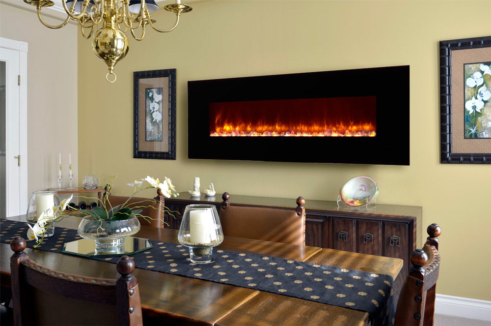 Dynasty 70 In Wall Mount Electric Fireplace