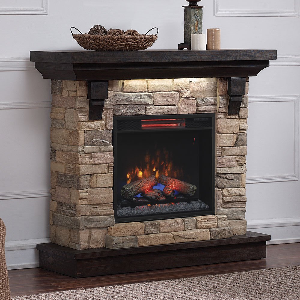 Eugene Electric Fireplace Mantel Package In Aged Coffee 23wm8909 I612