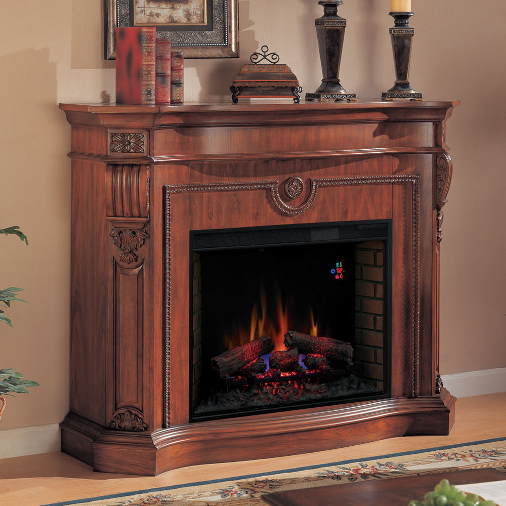 florence electric fireplace mantel in heritage cherry 33wm0615 c203
