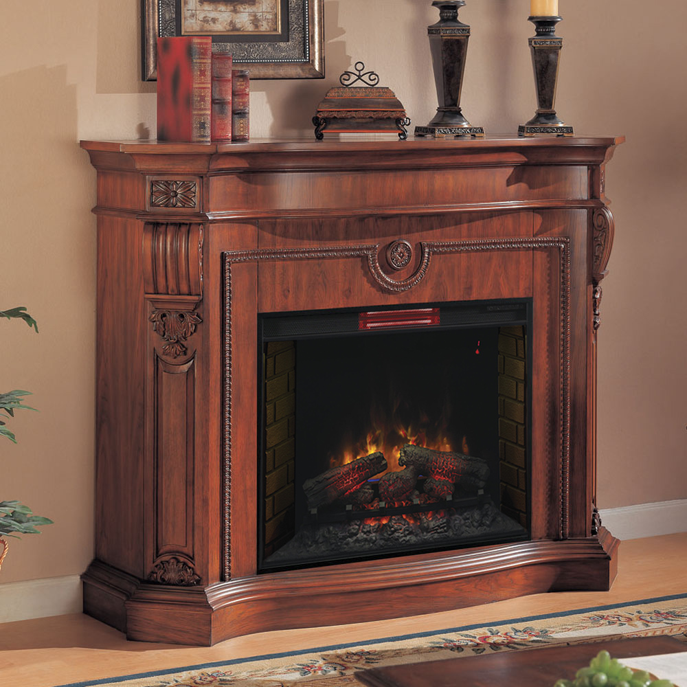 Florence Infrared Electric Fireplace Mantel In Heritage Cherry 33wm0615 C203