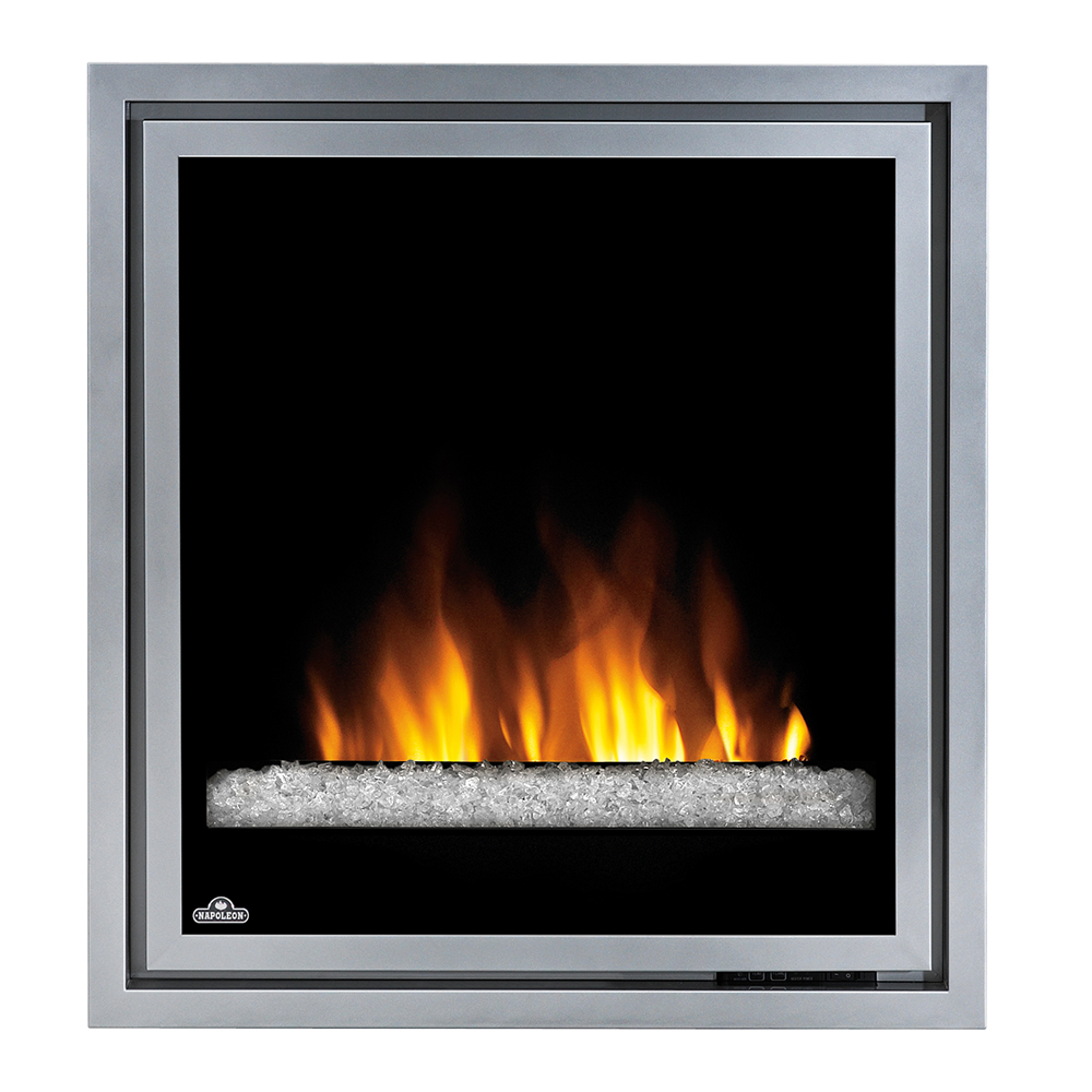 Napoleon 30 In Plug In Electric Fireplace Insert W Glass Embers Ef30g