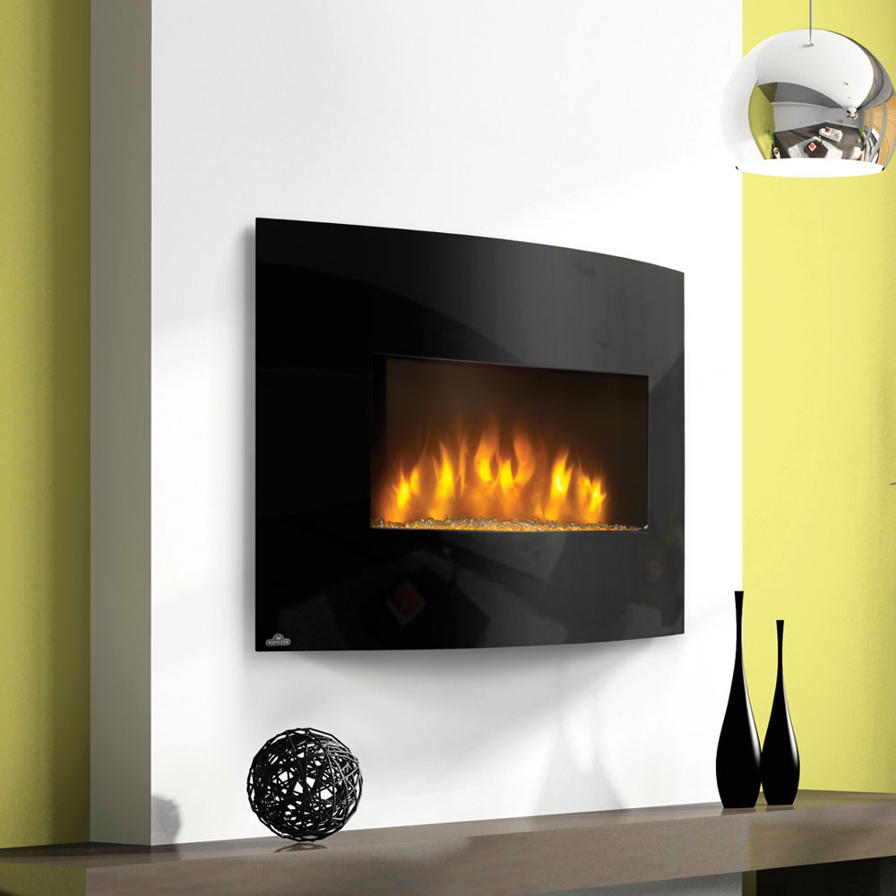 Fire Sense Black Wall Mounted Electric Fireplace With Heater Xlelectric wall fireplaces  dimplex synergy 50 in electric fireplace  . Electric Wall Fireplace Heaters. Home Design Ideas