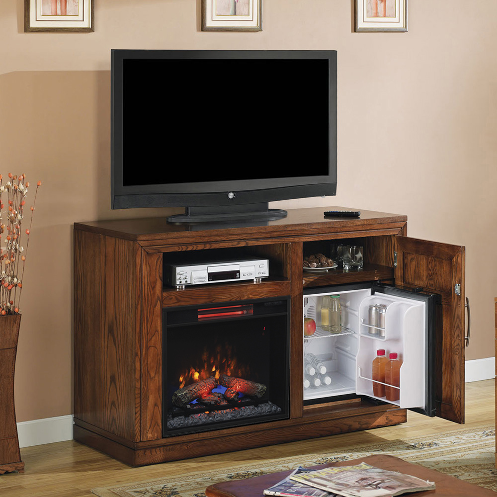 Party Time Infrared Electric Fireplace Media Console In