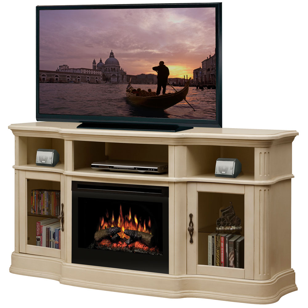 Dimplex Portobello Parchment Electric Fireplace Media