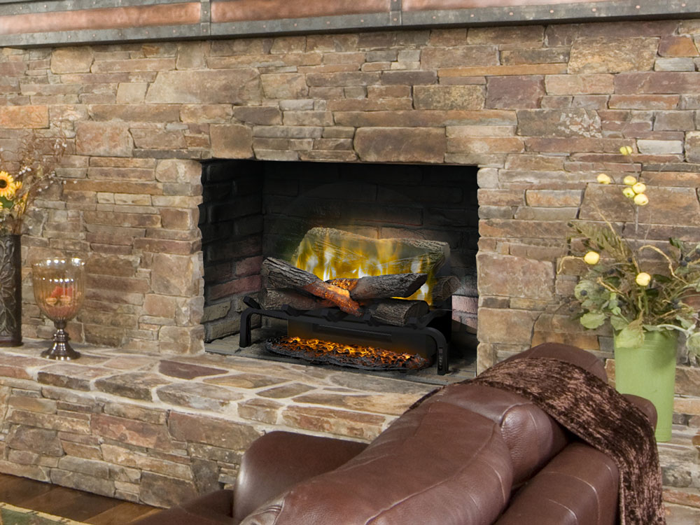 "Dimplex 20"" Revillusion Plug-In Electric Log Set w/ Ashmat ..."