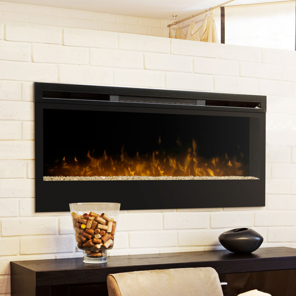 black in flame mount wall electric bk dinatale fireplaces real fireplace p mounted