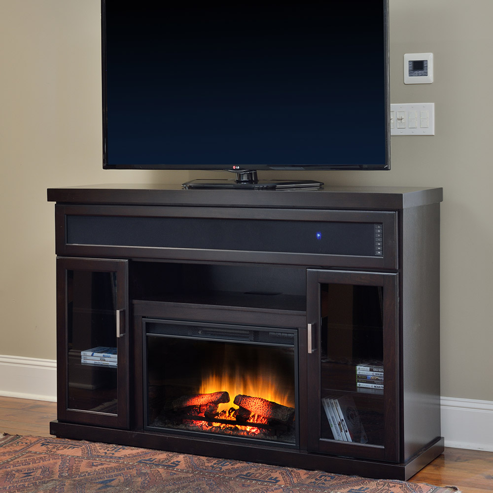 Tenor Electric Fireplace Entertainment Center In Espresso 26mms9726 E451