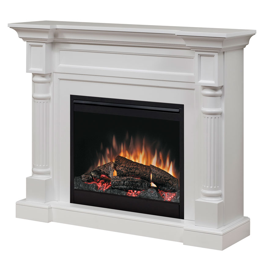 mantel dimplex white fireplace jean a accent in fireplaces finish