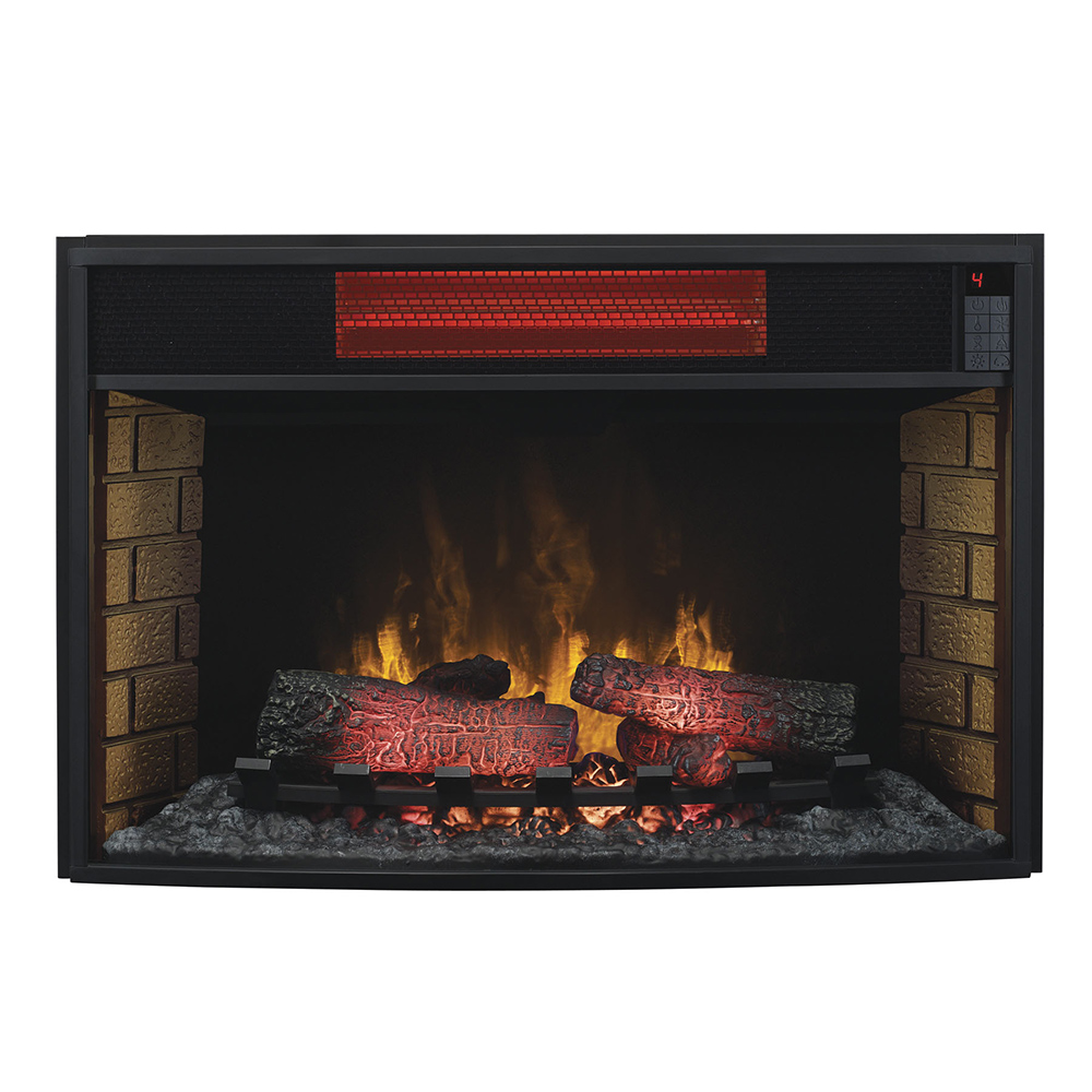 Plug In Electric Fireplace Inserts: ClassicFlame 32-In Spectrafire Infrared Electric Fireplace