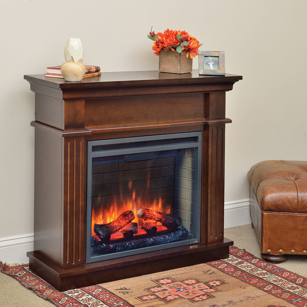 crestwood wall or corner electric fireplace mantel package