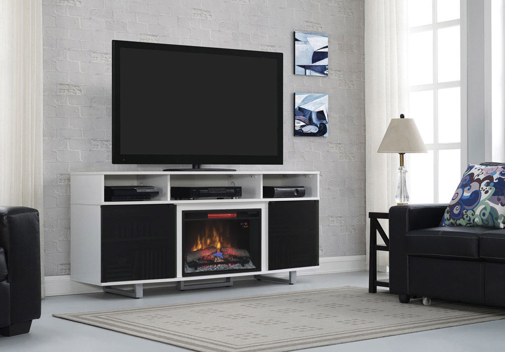 Enterprise Lite Infrared Electric Fireplace Entertainment