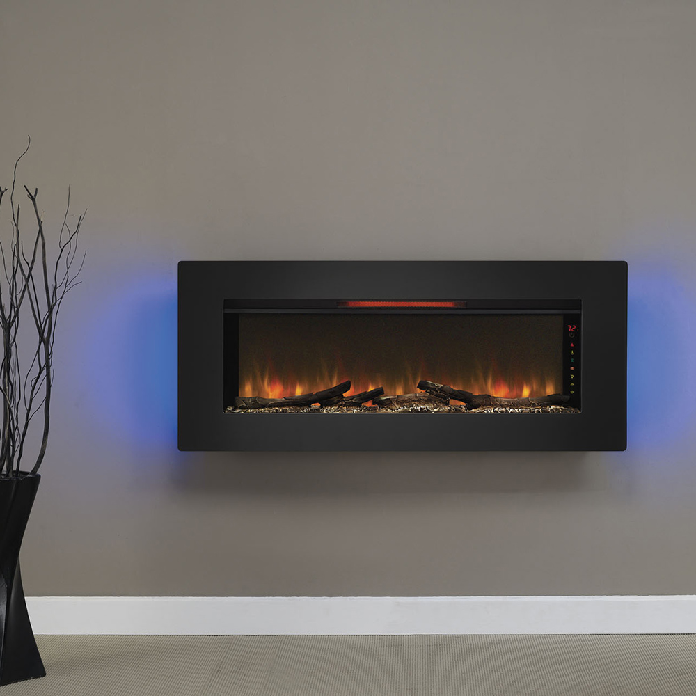 wall mount electric fireplaces linear hanging mounted designs