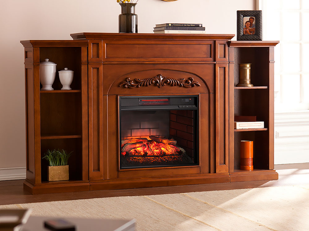 Chantilly Autumn Oak Infrared Electric Fireplace W