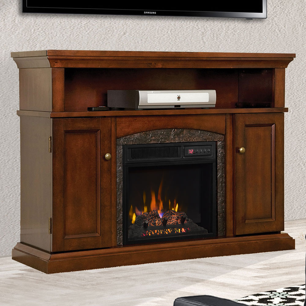 fireplace dp kitchen red style floor amazon stove retro ak electric akdy freestanding vintage nd home com heater