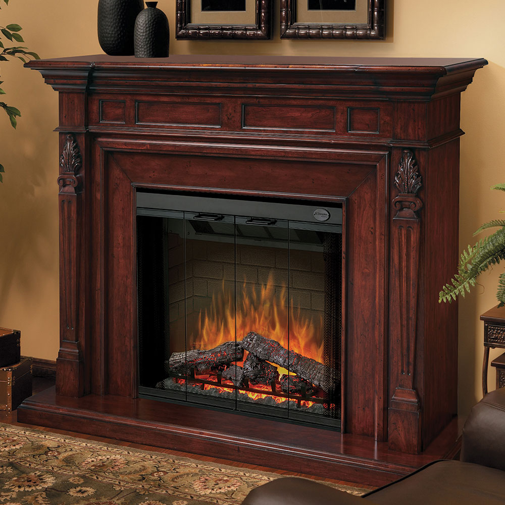 Dimplex Torchiere Burnished Walnut Electric Fireplace Mantel Package Sep Bw 4217 Fb