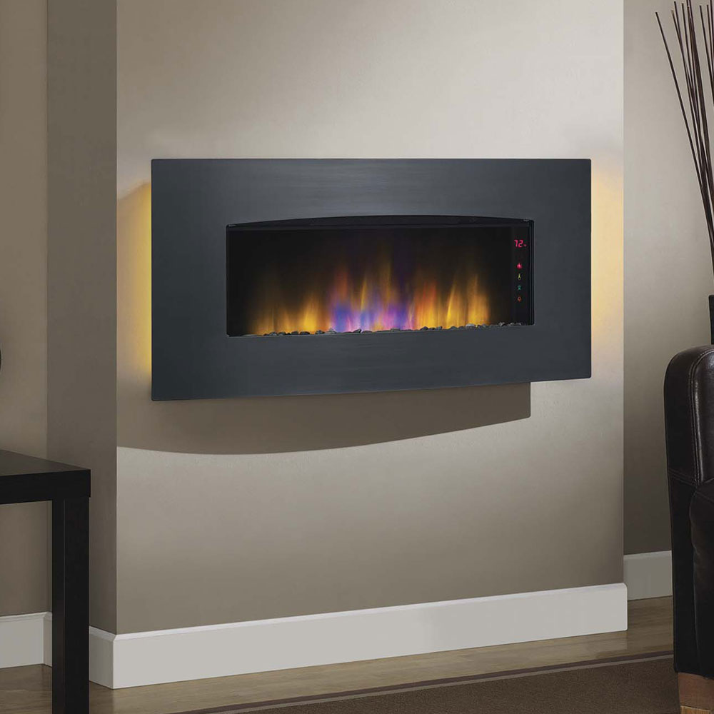 ventless mounted wall built inch color p in fireplace electric recessed lexington multi