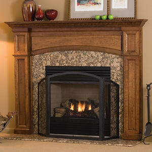 Hathaway Traditional Wood Fireplace Mantel Surrounds