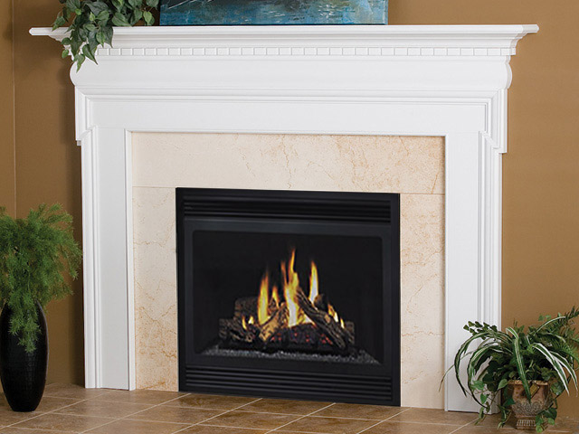 Newport traditional wood fireplace mantels surrounds for Wood fireplace surround designs