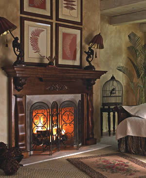 Prestige Collection Traditional Wood Fireplace Mantel