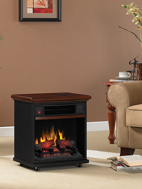 Sq Ft Cherry Portable Fireplace Infrared Heater - 20IF100GRA-C202