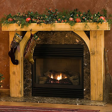 Rustic Stone Fireplace Mantels