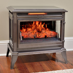 Comfort Smart Jackson Bronze Infrared Electric Fireplace Stove with Remote Control - CS-25IR-BRZ