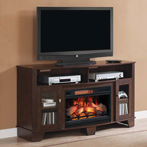 LaSalle Infrared Electric Fireplace Media Console in Midnight Cherry - 26MM4995-NC72