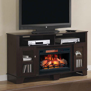 LaSalle Infrared Electric Fireplace Media Console in Oak Espresso - 26MM4995-PE91