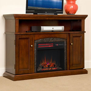 Lynwood Infrared Electric Fireplace Media Cabinet Vintage Cherry - 18MM4105-C233