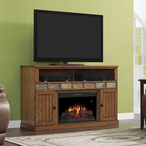 Margate Electric Fireplace Media Cabinet in Premium Oak - 26MM1754-O107