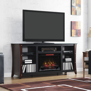 Marlin Infrared Electric Fireplace Media Cabinet in Midnight Cherry - 26MM9689-NC72