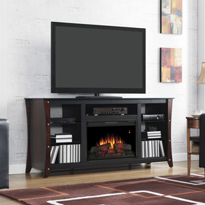 Marlin Electric Fireplace Media Cabinet in Midnight Cherry - 26MM9689-NC72