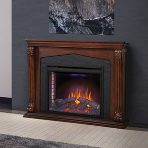 Monroe Electric Fireplace Mantel Package in Burnished Walnut - NEFP33-0314BW