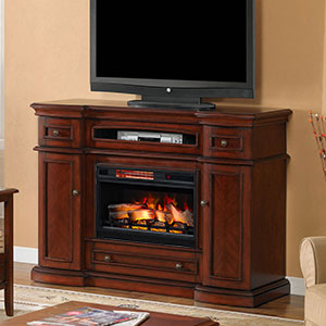 Montgomery Infrared Electric Fireplace Media Console in Vintage Cherry - 26MM2490-C233