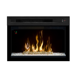 Dimplex 25-In Multi-Fire XD Curved Contemporary Electric Fireplace Insert - PF2325CG