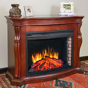 Tuscan Burnished Cherry Electric Fireplace Mantel Package - MEFC3317BCH
