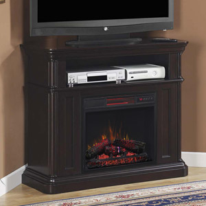 Oakfield Wall or Corner Infrared Electric Fireplace Media Console in Espresso - 23DE8202-E451