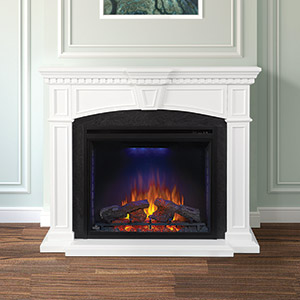Taylor Electric Fireplace Mantel Package in White- NEFP33-0214W