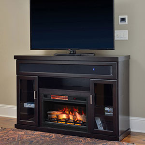 Tenor Infrared Electric Fireplace Entertainment Center in Espresso - 26MMS9726-E451
