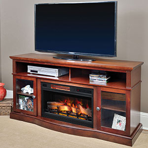 Walker Infrared Electric Fireplace Entertainment Center in Cherry - 25MM5326-C245