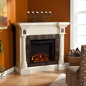 Carrington Wall or Corner Electric Fireplace in Antique Ivory - FE8749