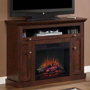 Windsor Wall or Corner Electric Fireplace Media Cabinet in Antique Cherry - 23DE9047-PC81
